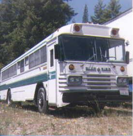 1965 blue bird 35 bus
